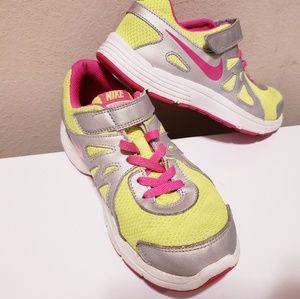 Girls Nike Revolution 2 Bright Yellow & Pink